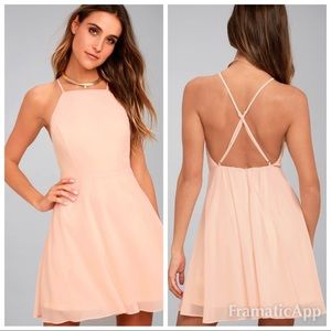 💫new lulu's letter of love blush georgette dress